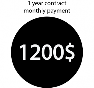 1 year contract, monthly payment