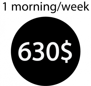 Trybe mornings once a week 630$